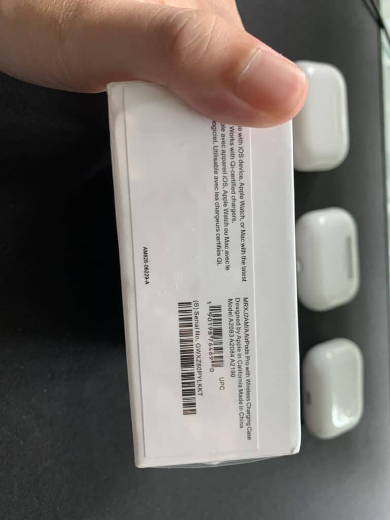 serial number can be fake on airpods pro clone
